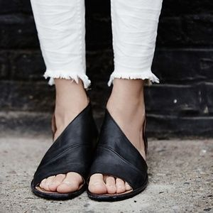 Free People Mont Blanc D'orsay Leather Sandals